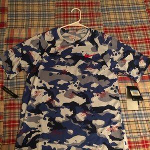 Men's Nike Blue Camp T-Shirt Medium